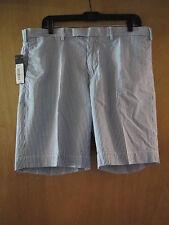 Mens Ralph Lauren Suffield Fit Blue Striped Seersucker Shorts NWT $79.50 36 W