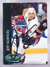 Jeff Norton New York Islanders 1992-93 Parkhurst Signed Card