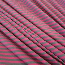 Stoff Meterware Baumwolle Jersey Ringeljersey Streifen grau pink  NEU
