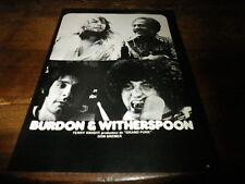BURDON & WITHERSPOON - Mini poster Noir & blanc !!! VINTAGE 70'S !!!