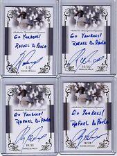 2013 Leaf Trinity Draft Rafael De Paula Inscription Silver Auto 8/10 RC Yankees