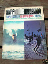 Vintage Surfer surfing magazine surf guide 1965 march surfboard longboard clean
