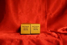 October 1951 Raytheon 5678 submini tubes.  2 ea Matched Pair tubes