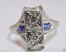 Antique Diamond Engagement Ring 18K White Gold Ring EGL USA Ring Size 6.75 Fine