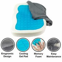 Cool Gel Coccyx Orthopedic Gel-enhanced Comfort Memory Foam Seat Cushion (Grey)