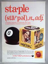 "Magic ""8 Ball"" Fortune Teller PRINT AD - 1972 ~~ Alabe Crafts"