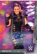 2018 Topps WWE Women's Division Auto NATALYA Silver Parallel AUTOGRAPH 25/50
