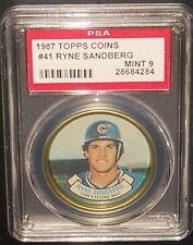 PSA 9 MINT 9 - #41 Ryne Sandberg 1987 Topps Coins Chicago Cubs