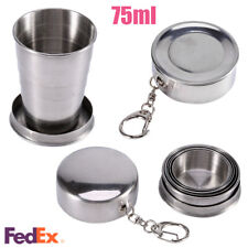 75ml Stainless Steel Outdoor Travel Camp Telescopic Folding Collapsible Mini Cup