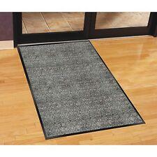 Genuine Joe Indoor Mat, Moisture Absorbent, Vinyl Back, 3'x5', Charcoal 56352