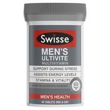 SWISSE MEN'S ULTIVITE MULTIVITAMIN 60 TABLETS FOR STRESS STAMINA & VITALITY