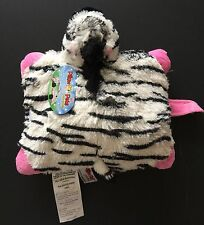"Pillow Pets Pee-Wee  Zippity Zebra plush 11"" As Seen On TV NWT"