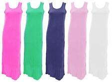LADIES SLEEVELESS DRESS JERSEY COTTON UK 8 10 12 14 16 18 SIRENG SONG NEW