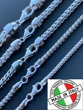 Real Solid 925 Sterling Silver Franco Chain 2-5mm Box Necklace Men Ladies 18-30""