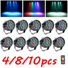 4/8/10PCS RGBW 12 LED Par Stage Lighting DMX DJ Disco Party Club Wedding Lights