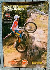 "Ulf Karlson Cota 349 Afiche 1980 Montesa Mundo Champion 27"" con 38 X"" H Vintage"
