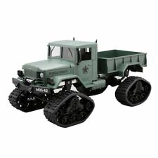 Green Military Army Truck 1:16 4WD Tracked Wheels Crawler Off-Road Car RC Grey