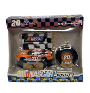 2002 Nascar Dated Collectible Ornament Set #20 Tony Stewart BRAND NEW!