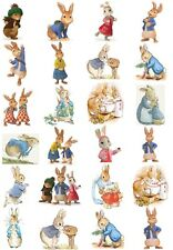 24 Mixed Peter Rabbit Beatrix Large Sticky White Paper Stickers Labels New