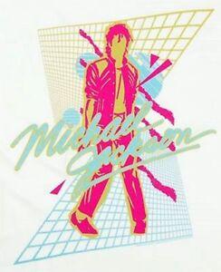 New: Vintage MICHAEL JACKSON Beat It Vaporwave Concert T-Shirt (White)