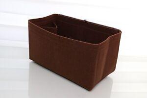 Handbag Felt Travel Bag Insert Liner Organiser For Speedy 25 Brown - UK SELLER