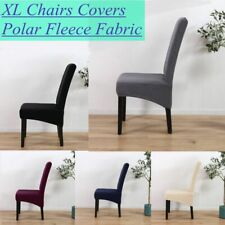 Home Dining Room Chair Stretch Slipcover Seat Protector Cover Fleece Fabric