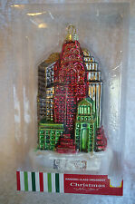 Christmas in New York Glass Skyline Empire State Building Ornament Holiday