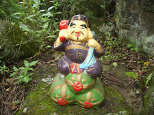 Japanese antique clay doll God of Wealth The Seven Deities of Good Fortune #8293