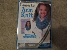 Leisure Arts LEARN TO ARM KNIT arm knitting kit Great gift ON SALE