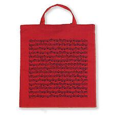 RED CARRY BAG TOTEBAG SHEET MUSIC RED COTTON BAG SHOPPING BAG