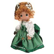"New Precious Moments Vinyl Doll Irish Girl Costume Dress Green White Ireland 9"""