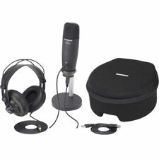 NEW! Samson C01U Pro Podcasting Pack (Black) - Microphone Headphone and Stand
