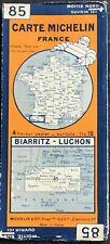 N° 85 - CARTE MICHELIN -  BIARRITZ - LUCHON  1930