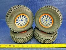 *NEW* Losi Desert Claw Tires/Wheels -Orange Ring (4) 1/6 Super Baja Rey LOS45021