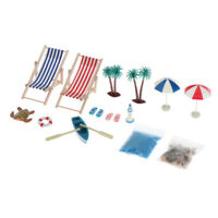 15 Stück / Set Puppenhaus Maßstab 1:12 DIY Miniatur Strand Set Dekor Spielzeug