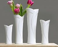 Ritzenhoff & Breker Tulip Porcelain White Vase 25cm Tall Wide Mouth