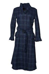 Stunning Burberry Prorsum Blue Check Coat UK 14 USA 12 IT 46 GER 42