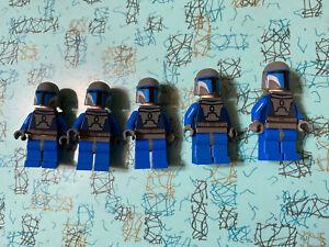 5 lego star wars Mandalorian Warrior minifigures, No Cracked Arms Or Torsos