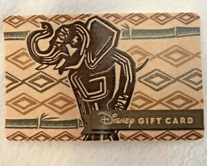 WALT DISNEY WORLD ANIMAL KINGDOM ELEPHANT GIFT CARD, Disneyland
