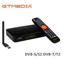 Receptor TV Satelite GTMedia DVB-S2/S2X DVB-T2 1080P HD Decodificador+ USB Wifi