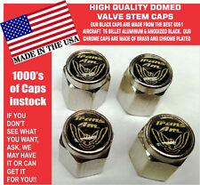 Chrome Pontiac Trans Am TransAm Formula Firebird Gold/Black Valve Stem Caps NICE