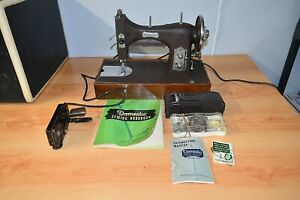VINTAGE MID CENTURY DOMESTIC STRAIGHT STITCH PORTABLE SEWING MACHINE - EXTRAS