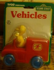 Vintage and Rare Tyco Preschool Sesame Street Big Bird in Car BNIB