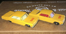 MATCHBOX Series 20 CHEVROLET IMPALA TAXI Made in England by Lesney Set Of 2