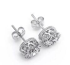 """925 Sterling Silver """"PRINCESS"""" Crown Stud Earrings"""
