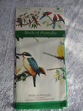 TEA TOWEL - BIRDS OF AUSTRALIA, BLUE WREN, KOOKABURRA, GALAHS ETC. 100% COTTON