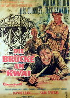 Alec Guinness DIE BRÜCKE AM KWAI Repro Plakat A1 gerollt