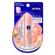[NIVEA] Delicious Drop Lip Balm SPF 11 PEACH VANILLA Flavor Chapstick JAPAN NEW