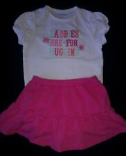 EUC babyGap Embroidered Bodysuit & Pink Ruffled Skort 12 - 18 Months Worn Once