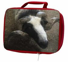 More details for new goat face insulated red school lunch box/picnic bag, goat-3lbr